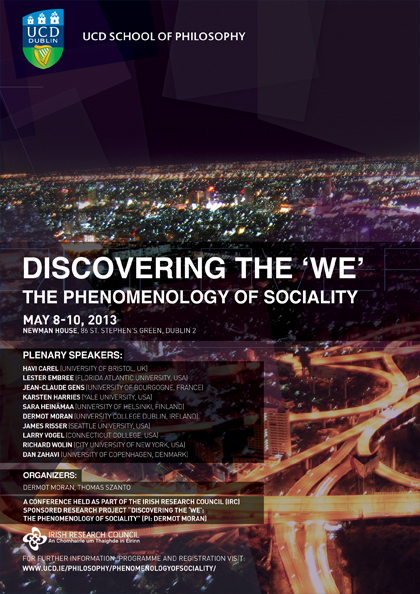 "Discovering the ""We"": The Phenomenology of Sociality"